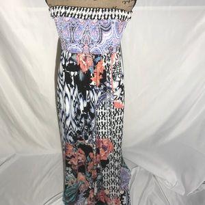 Soma Printed Maxi Dress Size Large